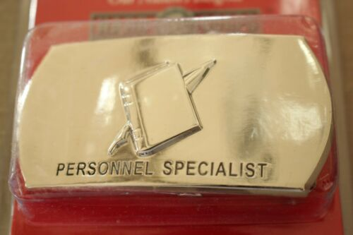 USN US NAVY USS SHIP SHORE AIR PERSONNEL SPECIALIST RATE SPECIALTY BELT BUCKLE