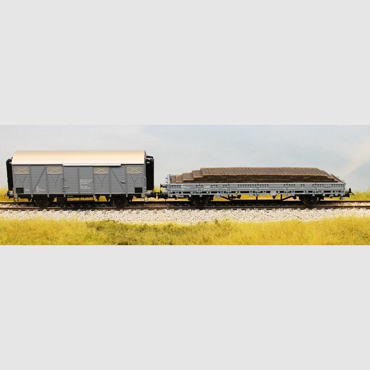 Set due carri grigio cenere - Art. Rivarossi HR6330