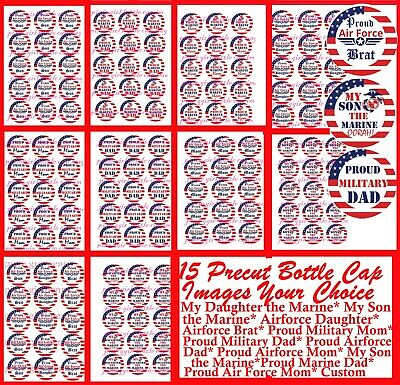 Red Tractor #2 Free Shipping Pre Cut One Inch Bottle Cap Images