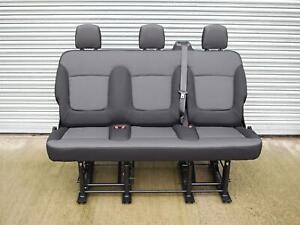 Genuine-Folding-OEM-Black-Triple-Bench-Seat-from-Renault-Trafic-Vauxhall-Vivaro