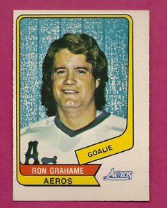 RARE-1976-77-OPC-WHA-107-AEROS-RON-GRAHAME-GOALIE-NRMT-CARD-INV-A7576