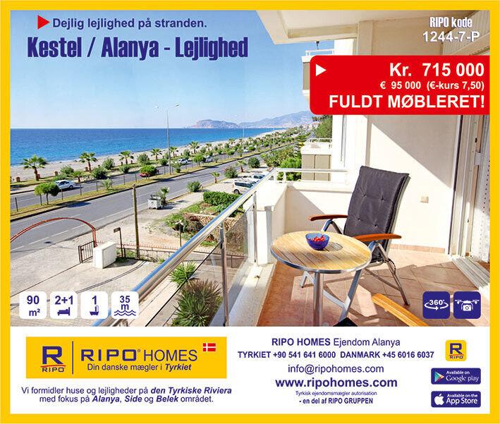 Alanya Kestel - Flot lejlighed næsten på strand...