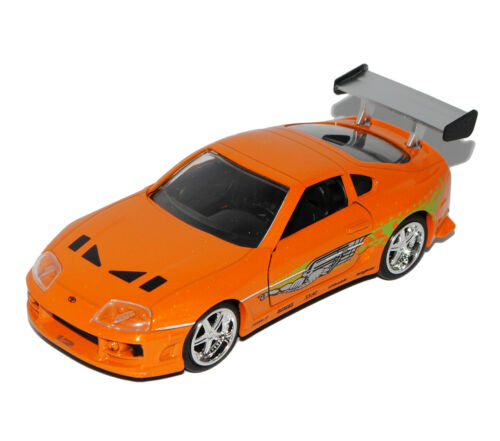 Toyota Supra Orange Brian´s Paul Walker The Fast and the Furious 1//32 Jada Model