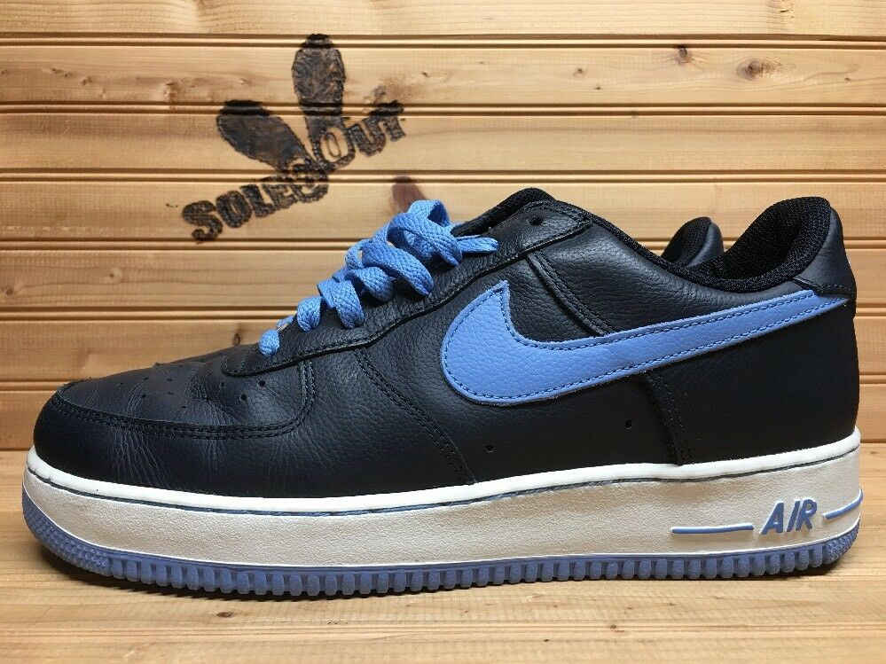 2002 nike air force one 1 basso sz ossidiana marina columbia blu 624040-441 cr