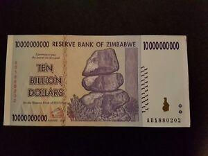 Image Is Loading Zimbabwe 10 Billion Dollars Banknote World Money Currency