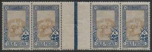 Tunisia-1906-Parcel-Post-25c-Scott-Q4-GUTTER-PAIR-VF-NH