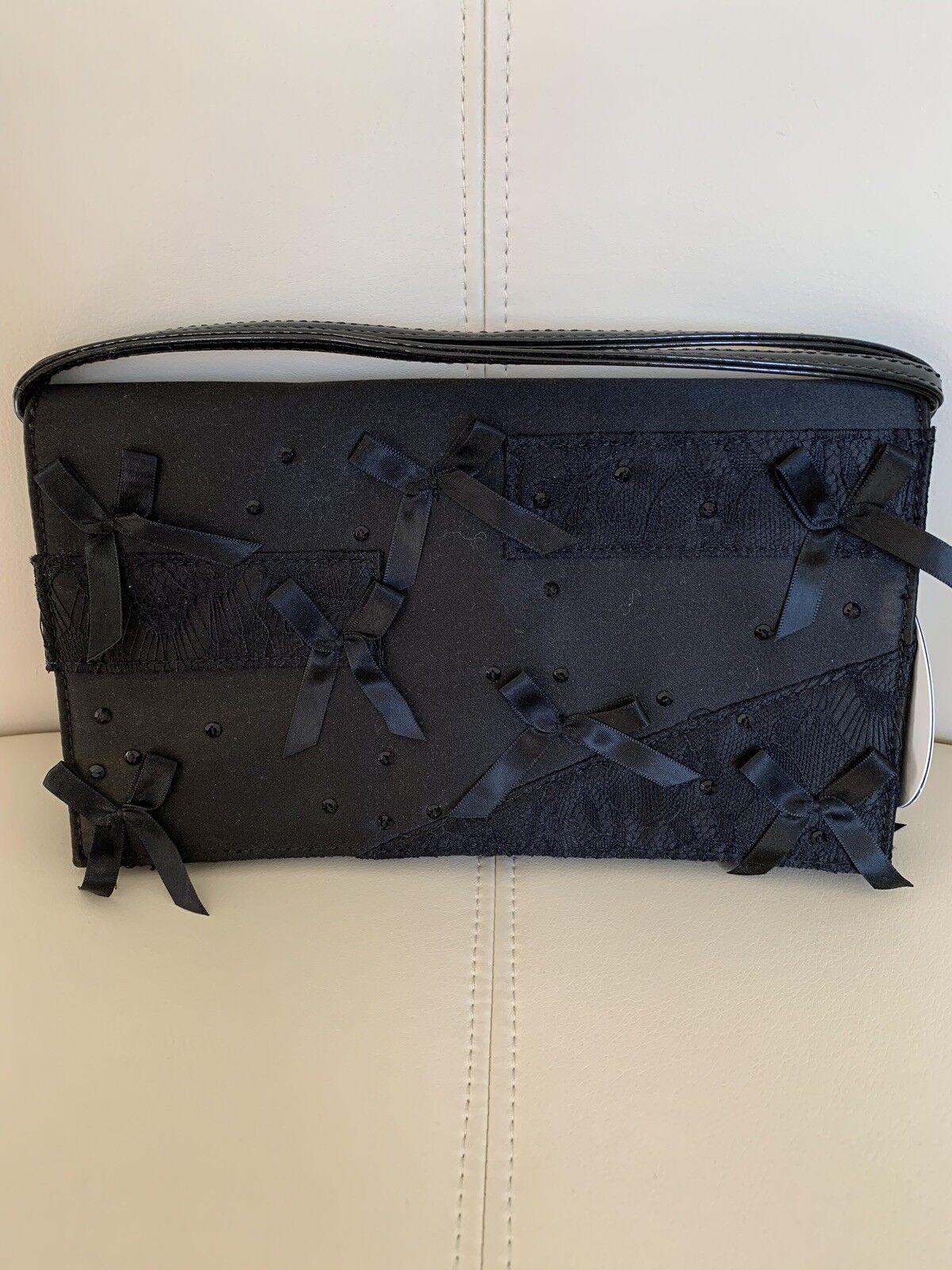 Details about  /Neiman Marcus Prabal Gurung Embellished Clutch Purse Black Designer Target