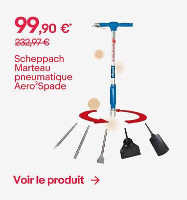 Scheppach Marteau pneumatique Aero²Spade - 99,90 €*