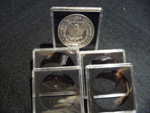 MORGAN SILVER DOLLARS pkg of 5 #3 QUADRUM :  COIN CAPSULE   38mm
