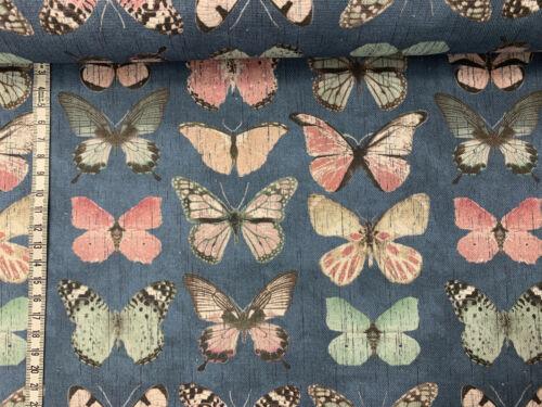 Schmetterlinge Vintage blau Canvas