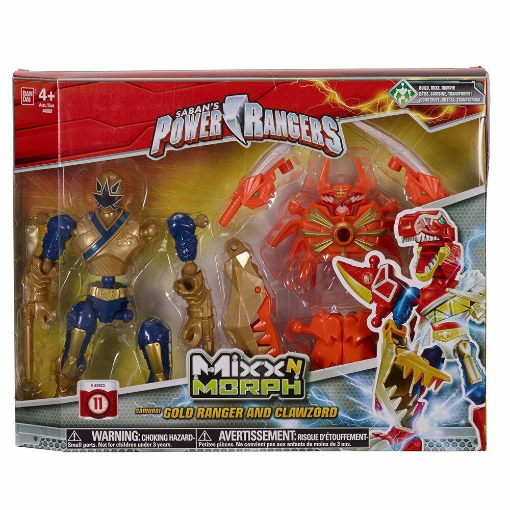 Power Rangers mixxn Morph  Samurai or Ranger et ClawZord-Chenilles p&p  nous prenons les clients comme notre dieu