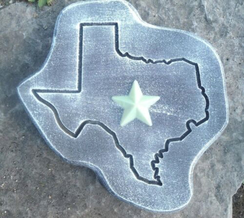 "Texas stepping stone mold concrete plaster mould 11/"" x 11/"" x 1.20/"" Thick"