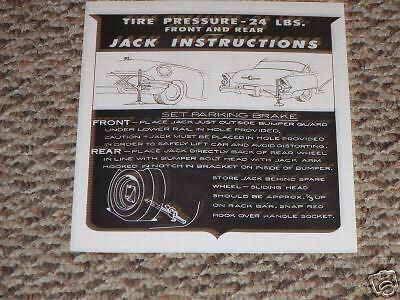 Mopar 55 DeSoto Jack Instructions NEW DD0469 D-15158 1955