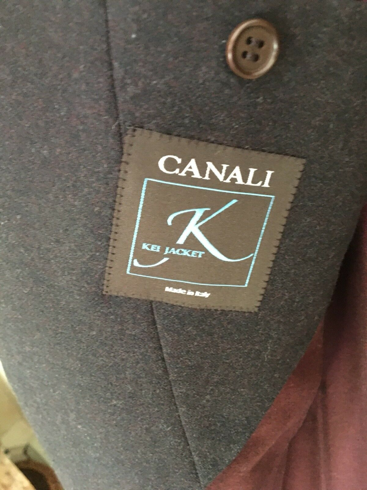 Canali Brown Kei Blazer 100% Cashmere 44R made in
