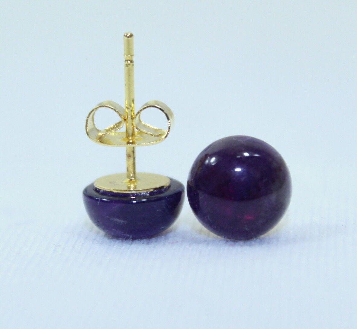 8mm Amethyst Studs Earrings 8 mm amethyst Stud Earring Purple purple