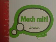 Aufkleber/Sticker: Arbeitsschutz AEG Telefunken mach mit (210816150)