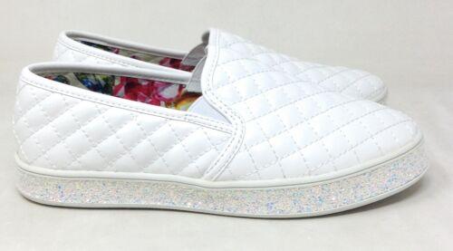 Madden Girl Little Girls mdiscoe Slip-on Plat Chaussures en Cuir Blanc Taille 4