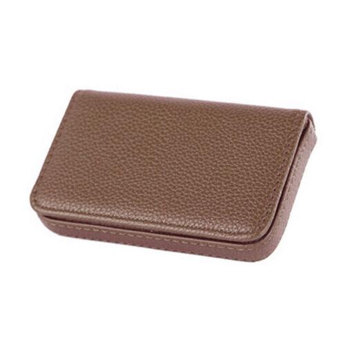 Men/&Women Pocket PU Leather Business ID Credit Gift Card Holder Case Wallet TDO