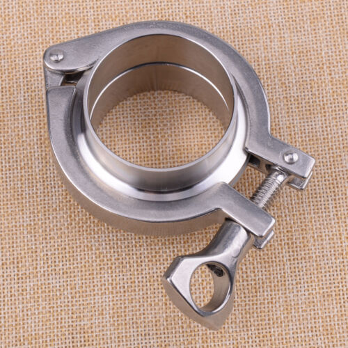 2/'/' Inch 304 V-Band Clamp Flange Kit Turbo Exhaust Down Pipe Stainless Steel