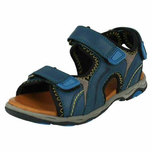 Bay * SALE *Boys Startrite Blue Rip Tape Sandals
