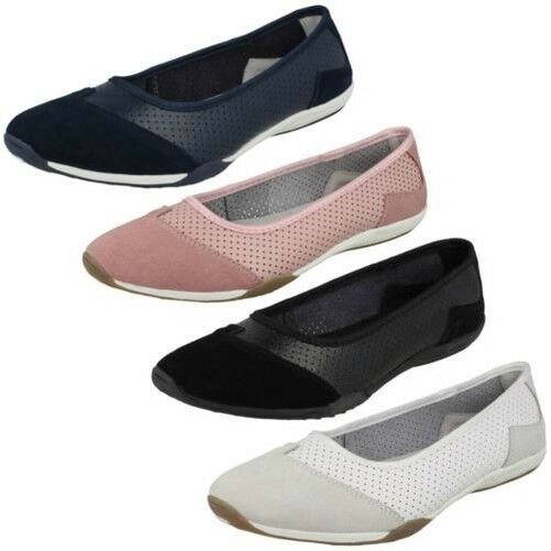 Ladies Down To Earth Casual Leather - Ballerinas