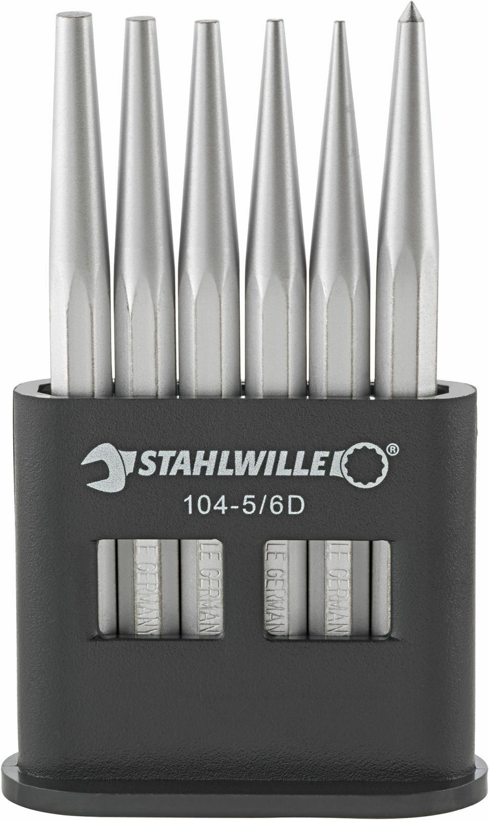 Stahlwille SET DRIFT-PINS, CENTRE PUNCHES 96700601 Set with  6 Psc. 104-5 6 D