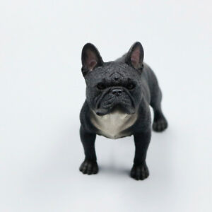 Resin Mini Stand French Bulldog Hand Painted Simulation Model Statue