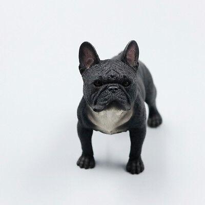 Resin Mini Stand French Bulldog Hand Painted Simulation Model Statue Black Ebay