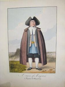 Mallorca-Paysano-de-Mallorca-Giscard-1823-Litografia-con-color-original