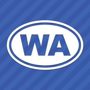 Washington WA Oval Vinyl Decal Sticker