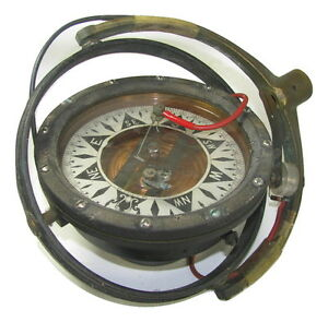 Dirigo-Eugene-M-Sherman-Antique-5-034-Gimbaled-Ships-Autopilot-Compass-10100-1670