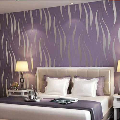 10m 3D Abstract Geometric Wallpaper Bedroom Living Room Home Embossed Chic Arts