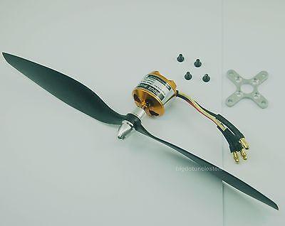 043:1 set KV1030 Brushless Motor w/Prop.,Fly weight:650gram for RC 3D E Plane