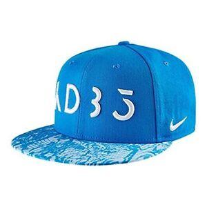 4354a382998 Unisex Nike KD Kevin Durant Rain True Snapback Hat 729493-406 Blue ...