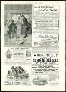 1889-Antique-Print-ADVERTISING-Pears-HY-Pease-amp-Co-Stonier-amp-Co-371