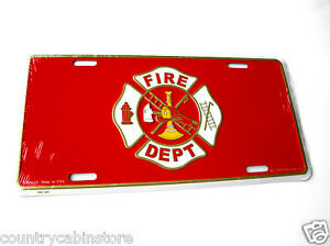 FIREFIGHTER-FIRE-SERVICE-LICENSE-PLATE-AUTO-STANDARD-SIZE-6-X-12-INCHES