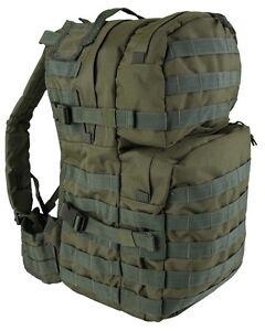 Olive-Green-Medium-40-ltr-Daysack-Army-Camping-Rucksack-Assault-Pack