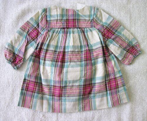 baby Gap girl classic pink green checker plaid dress w matching panty