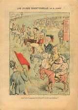 Caricature Politique Fallières Prix Élection présidentielle de 1906 ILLUSTRATION