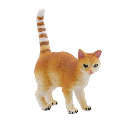 Kids Black White Play Cat Animal Model Figure Toy For Child Decoration Gifts