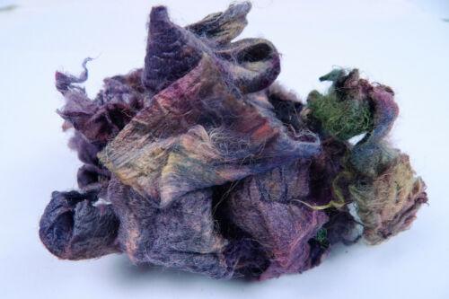 Hand Dyed Silk Carrier Rod Pieces Petal Leaf Felting Embellishing Textile Craft