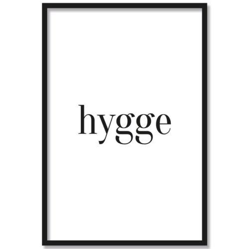 "JUNIWORDS Poster mit Rahmen /""Hygge/"" Geschenk Geburtstag Glück DIN A4 A3 A2 A1"