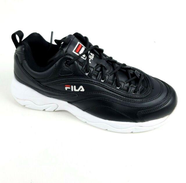 Fila Women's Disarray Sneakers Shoes Black & White Tennis Shoes Size 8 M