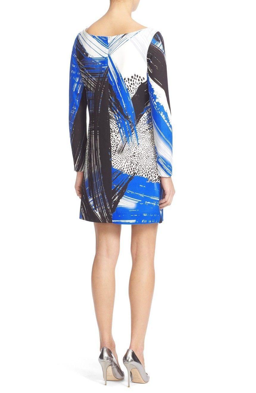 NWT  450 450 450 MILLY Brushstoke shift dress Long sleeved size 0 2 10 530ed4