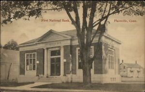 Plainville-CT-First-National-Bank-c1910-Postcard