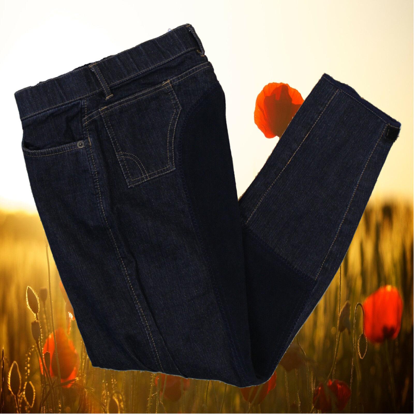 Reithose Denim, Covalliero Stiefelreithose Stiefelreithose Stiefelreithose dunkelblau, Vollbesatz, Jeans 5b9d47