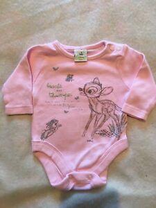 éNergique Magnifique Bébé Fille Body Avec Bambi Motif Premier Taille-afficher Le Titre D'origine