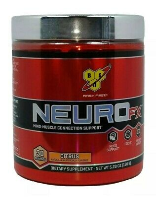 11//2020 BSN NEURO FX Mind-Muscle Connection Support 30 Serv Citrus Flavored Exp