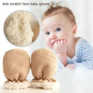 Winter Newborn Baby Anti-Grab Gloves Infant Fleece Thicken Warm Hand Mittens