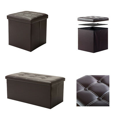 Fantastic Ottomans Footstools Large Brown Faux Leather Folding Alphanode Cool Chair Designs And Ideas Alphanodeonline